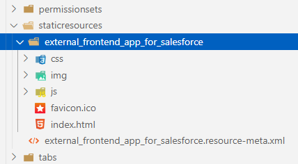 Embed front-end apps into SalesForce page
