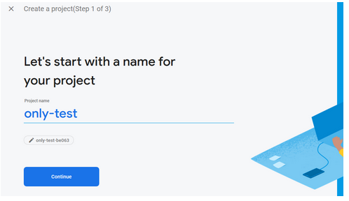 Firebase project name