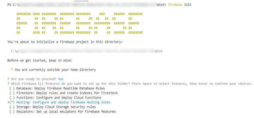 Init Firebase CLI project