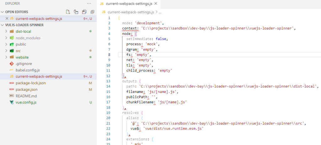 Vue CLI inspect current webpack settings